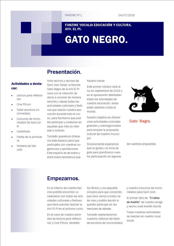 Fanzine. El Gato Negro